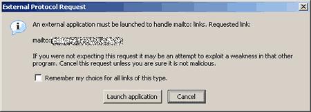 Firefox external protocol request alert